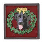 Labrador Retriever Dog: Lab Dog for Christmas Premium Keepsake Box