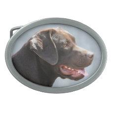 Labrador Retriever Dog Oval Belt Buckle