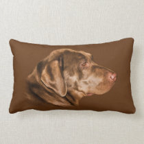Labrador Retriever Dog, Pillow, Customizable Lumbar Pillow