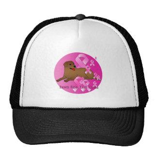 Labrador Retriever Dog Pink Ribbon Trucker Hat