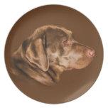 Labrador Retriever Dog, Plate, Customizable Plates