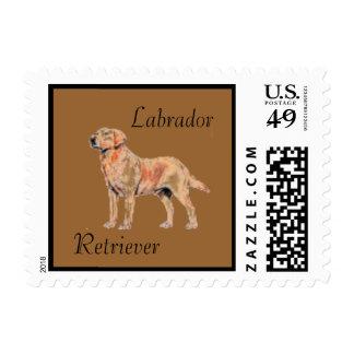 Labrador Retriever Dog Postage Stamp for letters