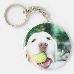 Labrador Retriever Dog Tennis Ball Keychain
