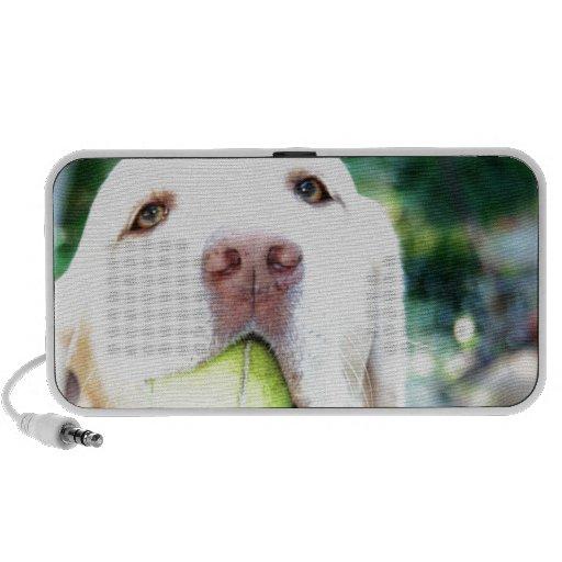 Labrador Retriever Dog Tennis Ball Portable Speaker