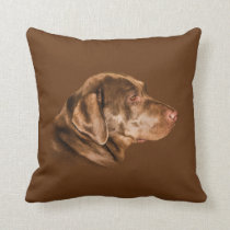 Labrador Retriever Dog, Throw Pillow, Customizable Throw Pillow