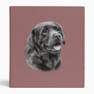 Labrador Retriever Drawing Binder