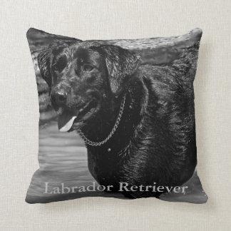 Labrador retriever en agua almohadas