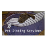 Labrador retriever en cama plantillas de tarjetas personales