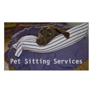 Labrador retriever en cama tarjetas de visita