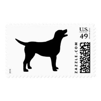 Labrador retriever (en negro) sello