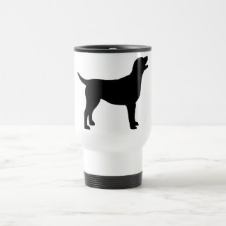 Labrador retriever (en negro) taza de viaje