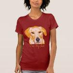 Labrador retriever en ropa de los amarillos del tshirts