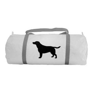 Labrador retriever en silueta bolsa de deporte