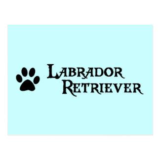Labrador retriever estilo del pirata con el pawpr tarjetas postales