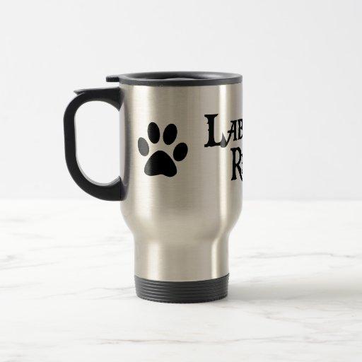 Labrador retriever (estilo del pirata con el pawpr taza de viaje de acero inoxidable