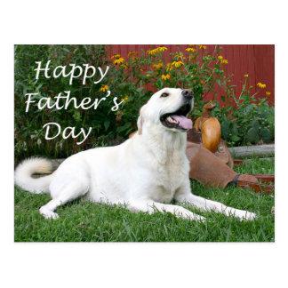 Labrador Retriever Father's Day postcard