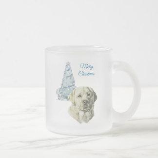 Labrador Retriever Frosted Glass Coffee Mug