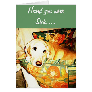 Labrador Retriever Get Well Card