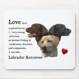 Labrador Retriever Gifts Mouse Mat