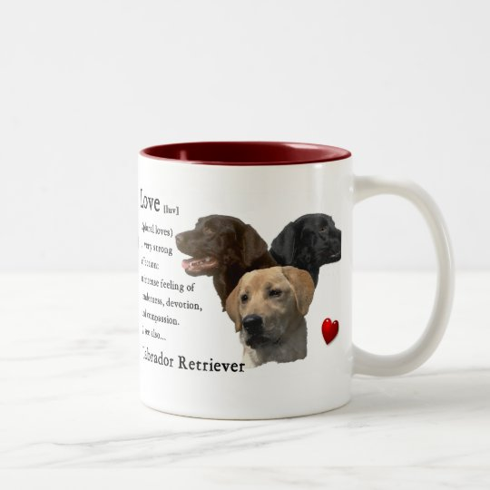 Labrador Retriever Gifts Two-Tone Coffee Mug