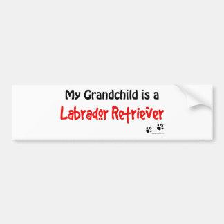 Labrador Retriever Grandchild Bumper Stickers