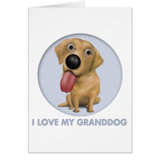 Labrador retriever Granddog (amarillo) Tarjeta De Felicitación