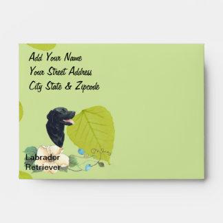 Labrador Retriever ~ Green Leaves Design Envelope