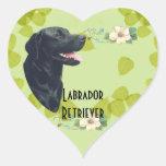 Labrador Retriever ~ Green Leaves Design Stickers
