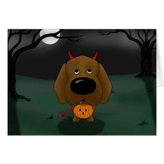 Labrador Retriever Halloween Card