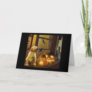 Labrador Retriever Halloween Puppy Card