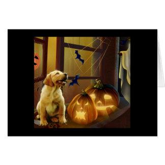 Labrador Retriever Halloween Puppy Card