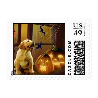 Labrador Retriever Halloween Puppy Postage