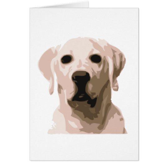 Labrador retriever hangover card
