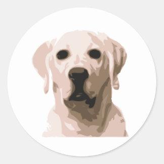 Labrador retriever hangover classic round sticker