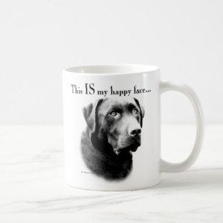 Labrador Retriever Happy Face Classic White Coffee Mug