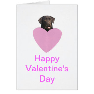 Labrador Retriever Happy Valentine's Day Card
