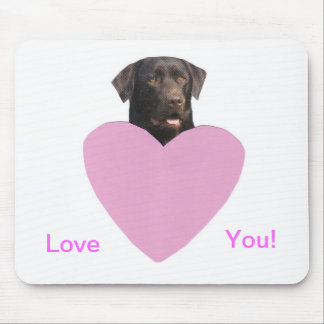 Labrador Retriever Happy Valentine's Day Mouse Pad