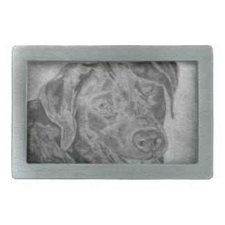 Labrador retriever hebilla cinturón rectangular