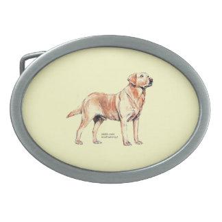Labrador retriever hebillas cinturón ovales