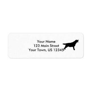 Labrador Retriever hunting dog Silhouette Return Address Label