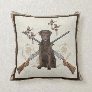 Labrador Retriever Hunts Throw Pillow