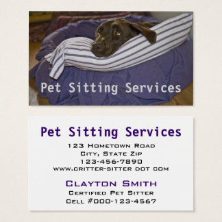 Labrador Retriever In Bed Business Card