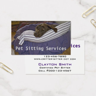 Labrador Retriever In Bed Business Card