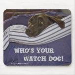 Labrador Retriever In Bed Mousepad