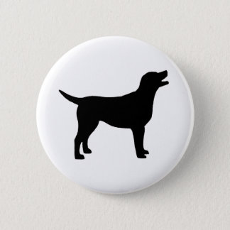 Labrador Retriever (in black) Pinback Button