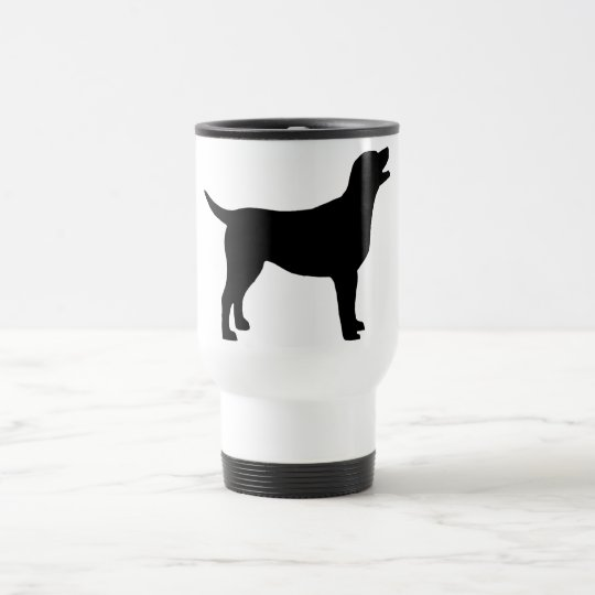 Labrador Retriever (in black) Travel Mug