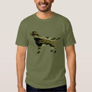 Labrador Retriever in Camouflage Colors Tshirt