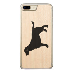 Carved Apple iPhone 7 Plus Wood Case with Labrador Retriever Phone Cases design