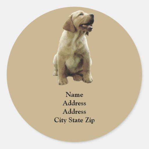 Labrador Retriever Irresistible Address Label Stickers