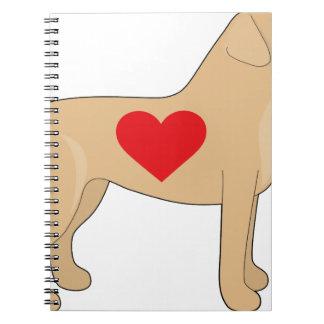 Labrador retriever cuadernos